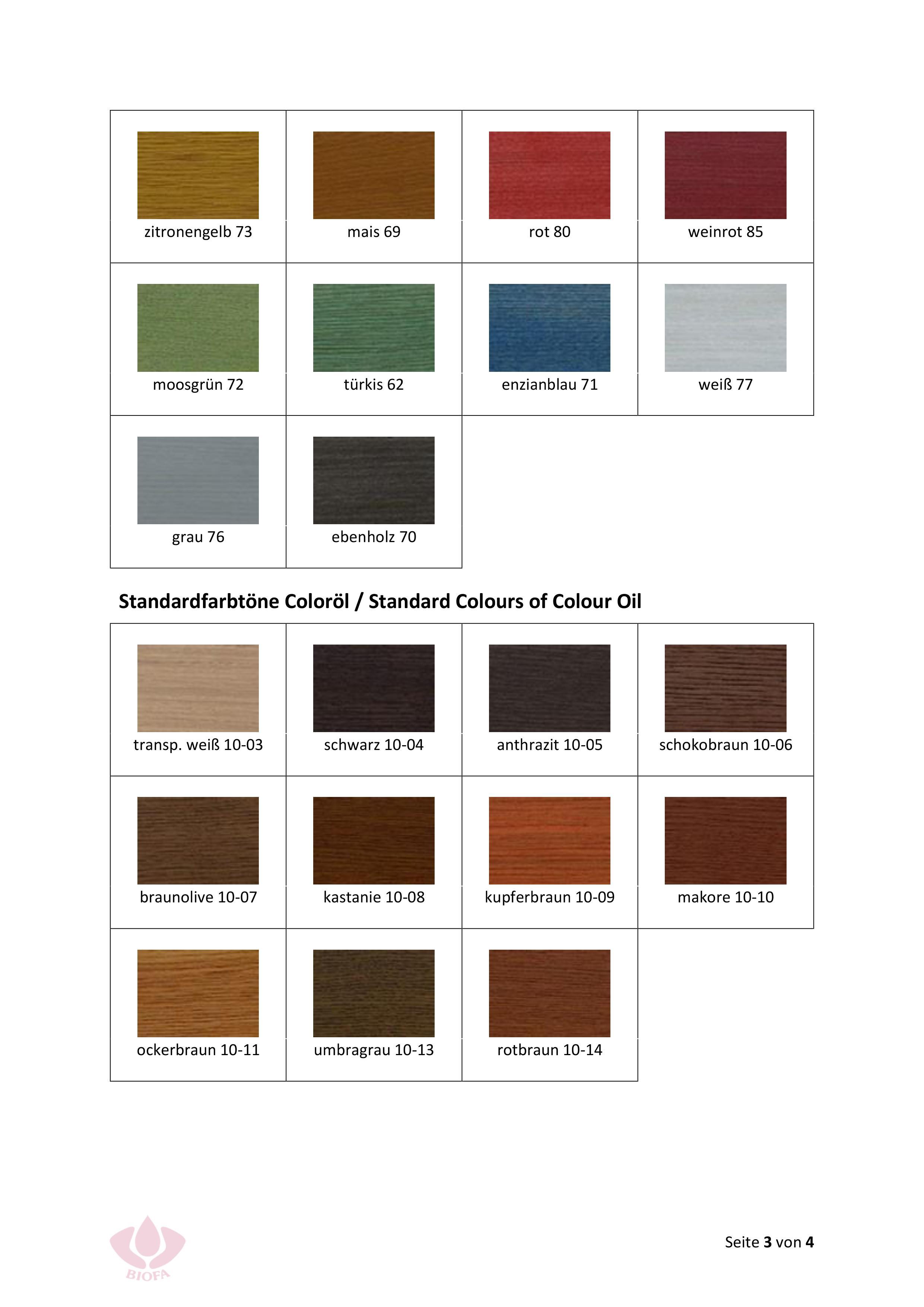 Naturfarben Online Shop Biofa Holzlasur Farbig Losemittelfrei 5101